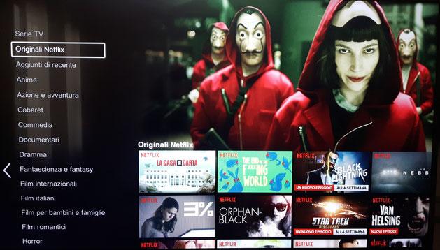 tv che mostra serie tv netflix
