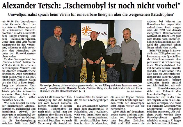 Ahlener Zeitung vom 21. November 2016