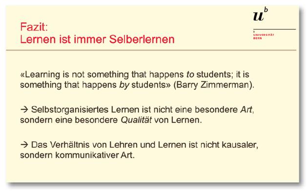 """Auszug aus der Präsentation von Barbara Studer zum """"Lernen lernen"""" vom 30.10.2020, Thementag """"Überfachliche Kompetenzen"""""""
