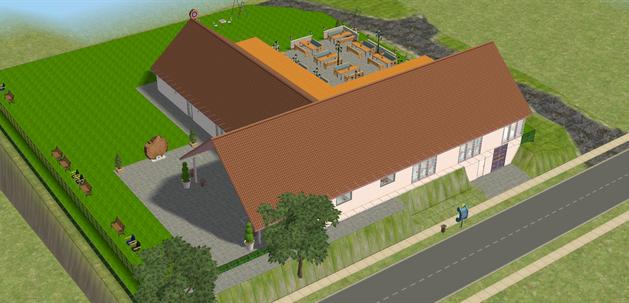 Das Dorfgemeinschaftshaus: Neben einem Gastraum, der zur Bewirtung benutzt werden kann, verfügt das Gebäude über einen großen Saal für Veranstaltungen. Ein Highlight des Neubaus: Die Außenterrasse.