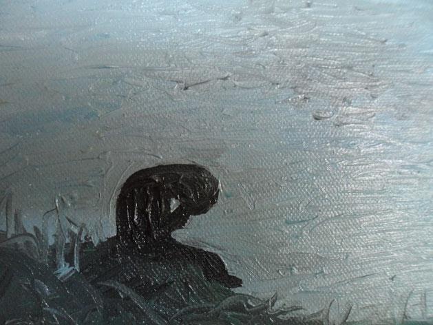 SONO TRISTE SENZA TE -  2012 olio su tela 13 x 18