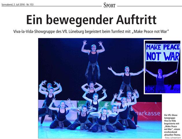 """Viva-la-Vida,VfL Lübeck,  beim """"Rendezvous der Besten"""""""