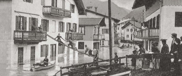Hochwasserkatastrophe am Tegernsee im September 1899