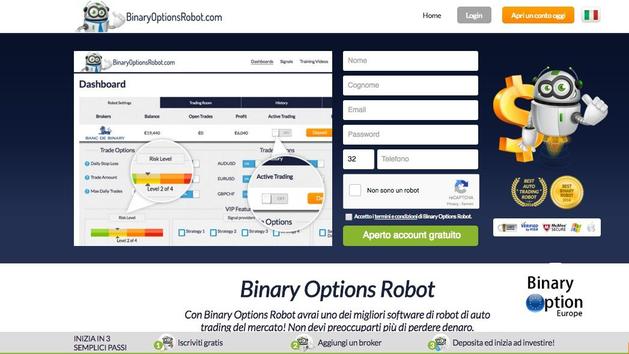 Binary option robot guida
