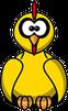 Komischer gelber Vogel