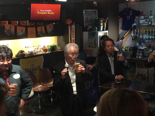 乾杯を終えられたE&Gアカデミー大阪校の藤山校長!!!