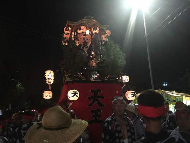 2018年の大森天王祭の山車。毎年格好いいぜ!!!