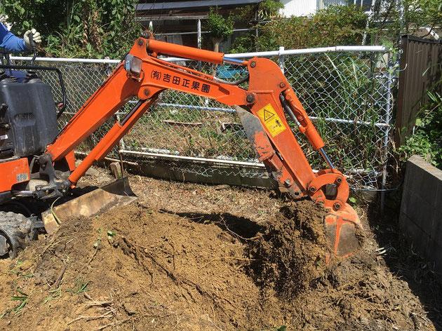 思いっきり土を掘れます!!