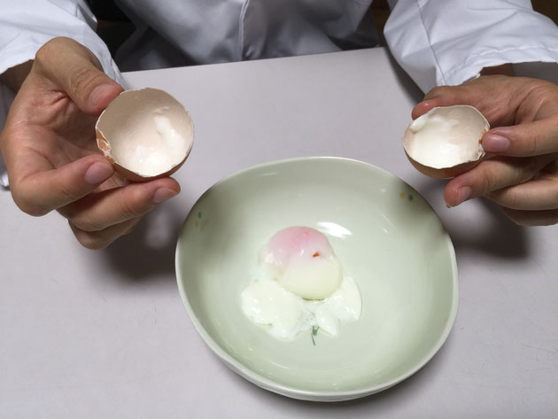 ゆで卵ではない!!!これは、温泉卵だ!!!