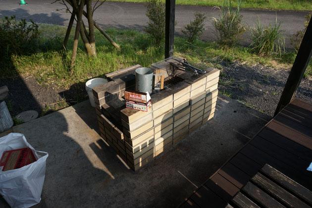 結構大きめのBBQスペース。これなら一気に沢山料理が作れます!
