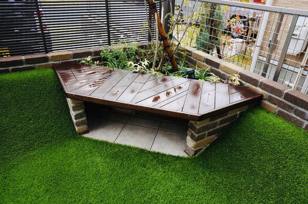 ガーデンドクター柴ちゃんがデザインしたコマリちゃん憩いスペース!