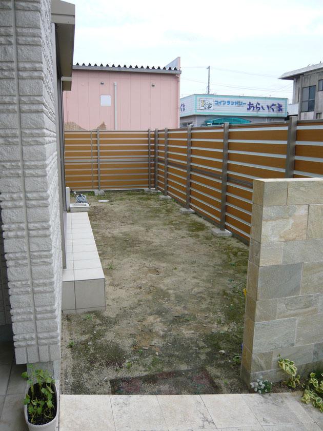 ガーデン 洋風 Before F様邸
