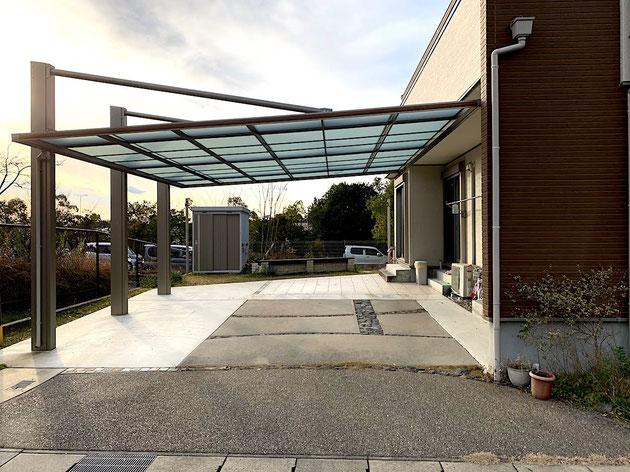 三協アルミさんのダブルフェースで駐車場をリフォーム!