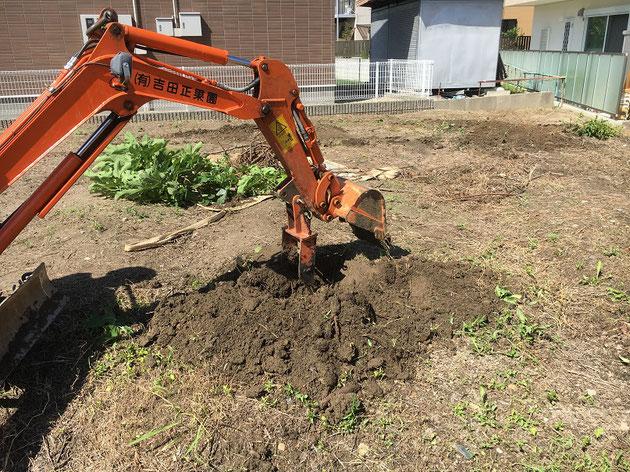 もちろん土も掘れる!