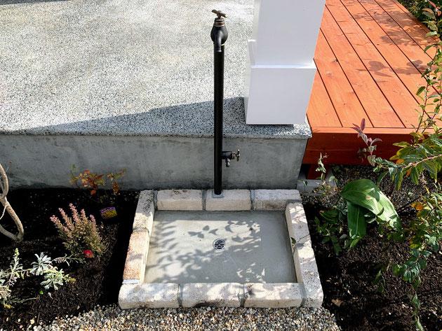 立水栓は洗い場を広くすることで使い勝手が大幅に向上します!