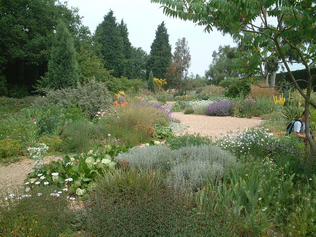 イギリスの砂利と植物の庭。ここではどんな砂利が使われている?