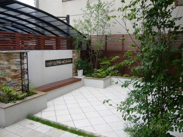 名古屋市北区 手間のかからない洋風ガーデン