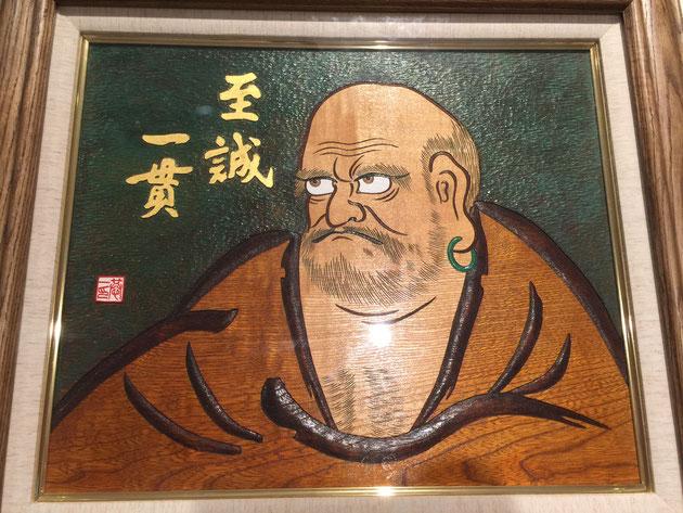 メニコン田中会長の達磨大師。他にも迫力のダルマ大師がいっぱい!