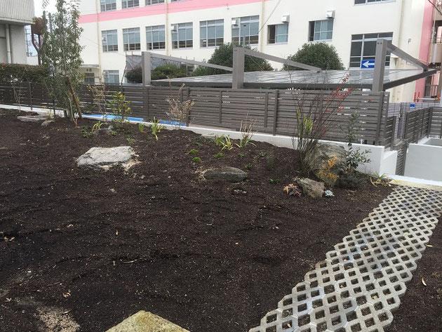 完成直後のお庭の様子です!