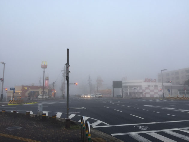 天気がよければここから名古屋の駅ビルが見えるのに・・・