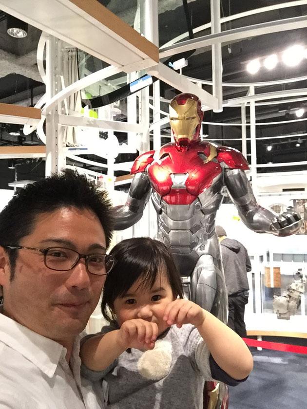 展示の最後に現れるアイアンマン!!!超絶格好いいのであります!!!