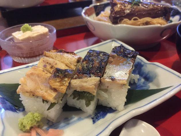 焼きサバのお寿司。サバがいっぱいで嬉しい。