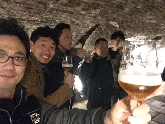 ベルギービールを本場の醸造所で頂く!