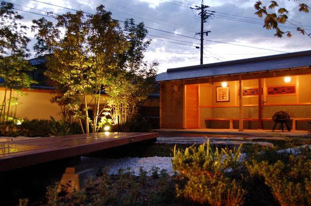 和風のお庭のライトアップの事例 ライトアップで素敵なガーデンライフを!!