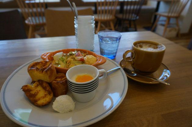 守山区にオープンしたオシャレな「niwa cafe」のniwa cafe モーニング。