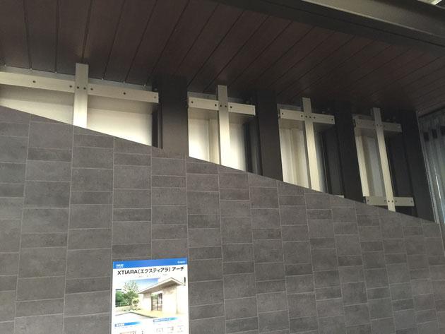 アルミ乾式壁構造フレームを採用しているので、工期短縮と品質の安定が実現