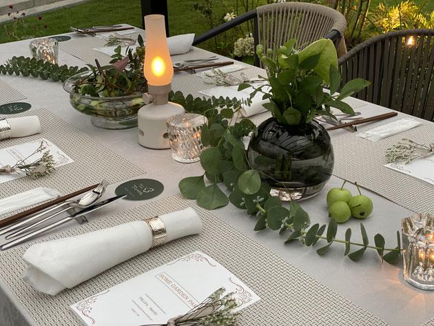 ガーデンパーティのテーブルコーディネート