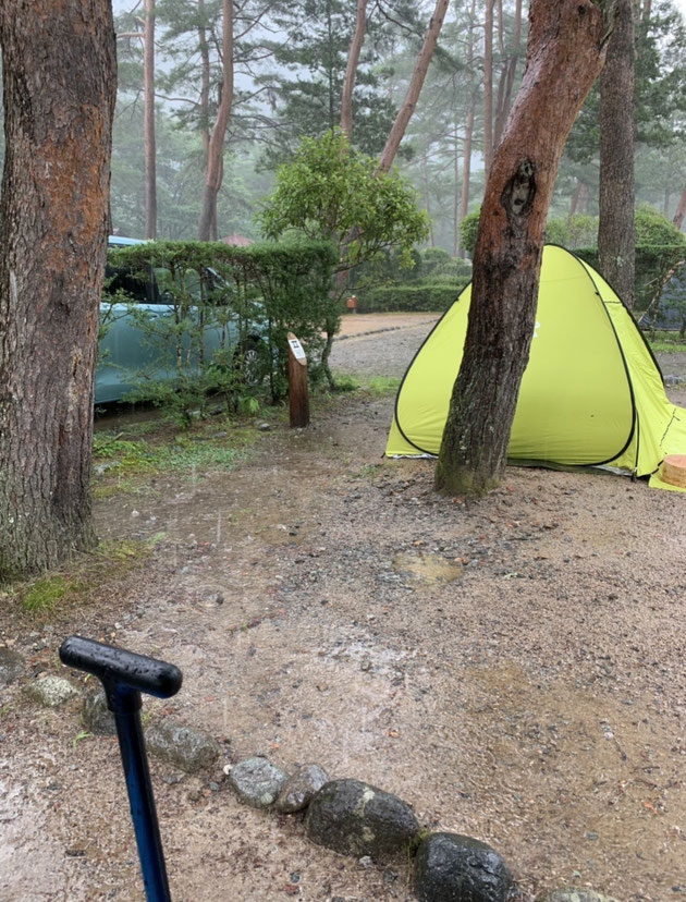 奥飛騨温泉郷オートキャンプ場で降った土砂降り。テントがあ・・・