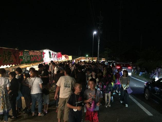 2017年志段味の納涼夏祭りは凄い人でごった返していました!!!