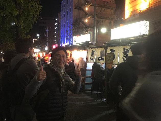 中州にあった屋台街。柴ちゃん思わず笑顔全開!!!