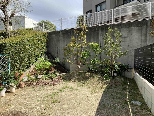 Before 名古屋市緑区S様邸 お庭工事前。