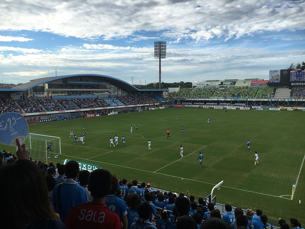 写真は昨年観戦したジュビロ磐田の試合(ヤマハスタジアム)
