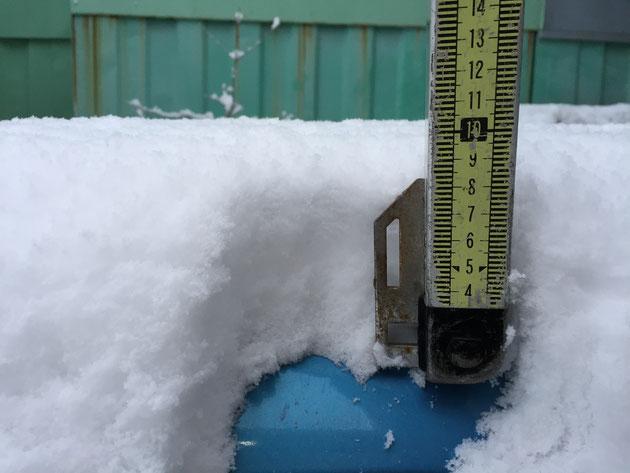 わが愛車リーフは10cmの積雪を記録!!!