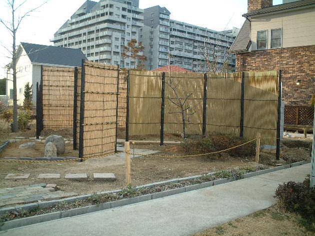 こちらが神戸校2期生皆で作った卒業制作作品。和風のお庭でした。