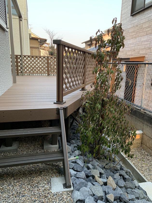 春日井市 高低差のある庭 After