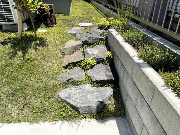 瀬戸市 天然石で作った階段
