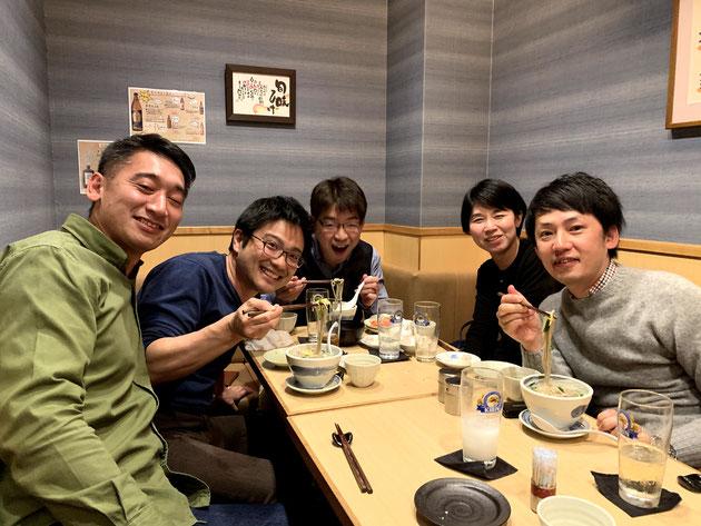 柴ちゃんを囲む会のメンバー。池内さん、鶴居さん、中平さん、松井さん。感謝です!!!