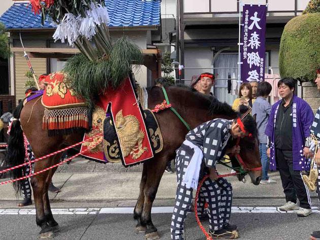 この『オマント』を奉納するのが5年に一度の大祭『大森郷祭』