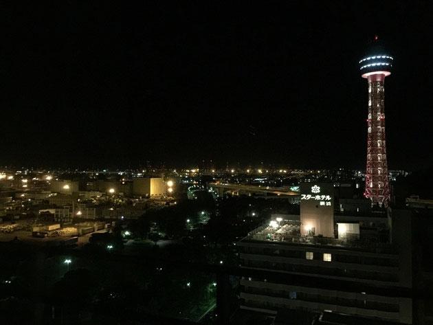 横浜の老舗 ニューグランドホテルからの夜景
