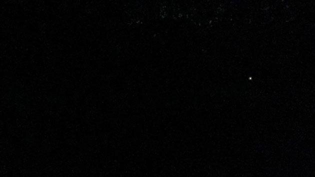 見難いけど、右に光っている点がヒメボタル!