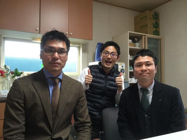 右が西堂さん左が梅原さん。はるばるよういりゃーた!!!