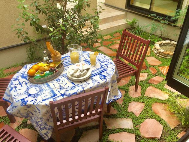 ガーデンドクター柴ちゃんこだわりの中庭空間