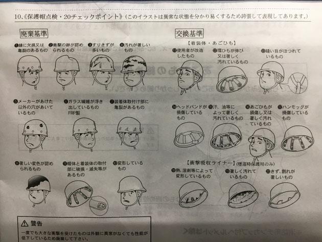 ヘルメットの取扱説明書!