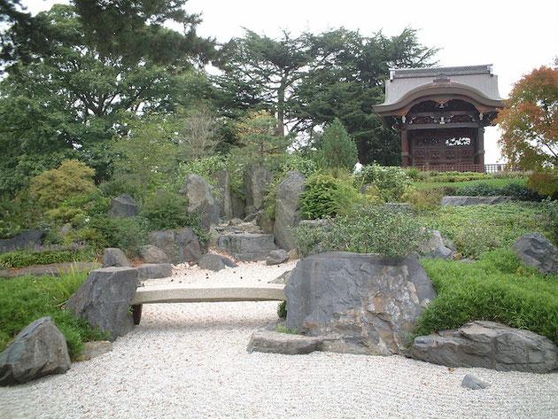 素晴らしい日本庭園があるキューガーデン