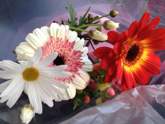 嬉しい話にお花は合いますねえ