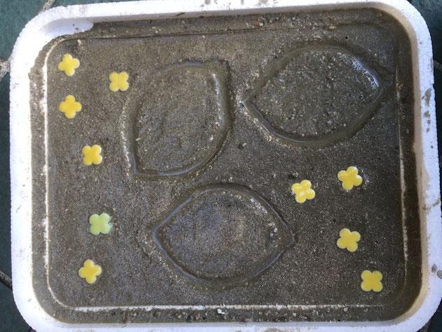 レモンの縁を盛り上げて作ったレモン型でもう一度実験